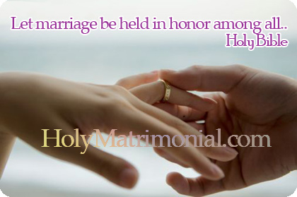 HolyMatrimonial com † Christ Centered Genuine Christian Holy